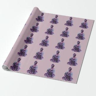 Kirschblüten-Buddha-Packpapier Geschenkpapier