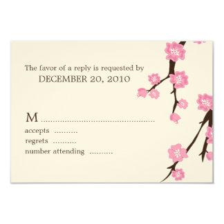 Kirschblüten, die Wartekarten Wedding sind 8,9 X 12,7 Cm Einladungskarte