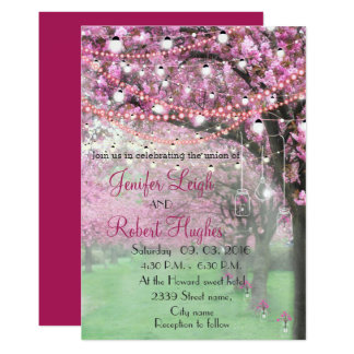 Kirschblüten-Frühlingshochzeit Karte