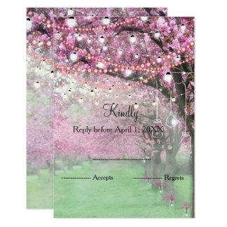 Kirschblüten-Frühlingshochzeit UAWG Karte