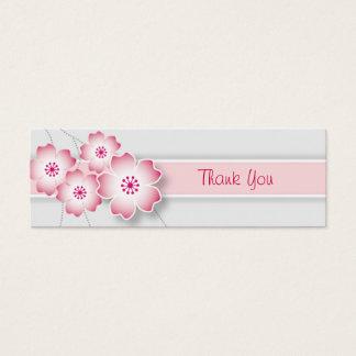Kirschblüten-Gastgeschenk Hochzeits-Umbau Mini Visitenkarte