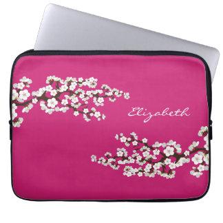 Kirschblüten-Kirschblüte-Laptop-Hülse (fuschia) Computer Sleeve Schutzhüllen