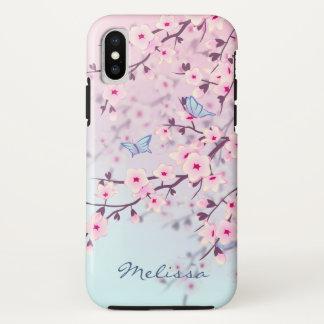 Kirschblüten-Landschaft iPhone X Hülle