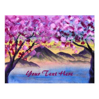 Kirschblüten-Trees Postkarte