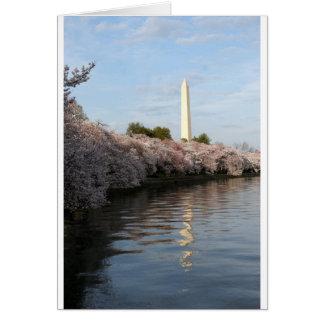 Kirschblüten-Washington-Monument Karte