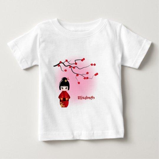 Kirschblütenamensbabymädchen-Shirt japanischer Baby T-shirt