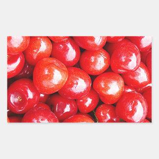Kirsche Frucht-, diegesundheit gesunde rosa Rechteckiger Aufkleber