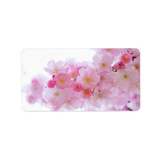 Kirsche Japans Kirschblüte Adressaufkleber