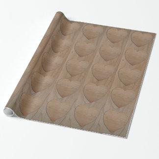 """Kirschhölzerne Herz-glattes Packpapier 30"""" x 6'"""