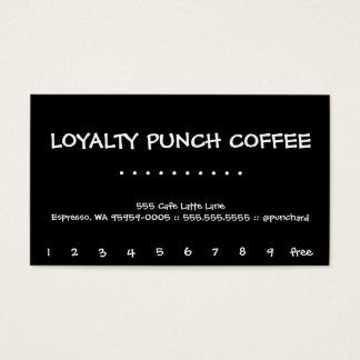 Kirschmond-Loyalitäts-schwarzer Kaffee-Lochkarte Visitenkarten
