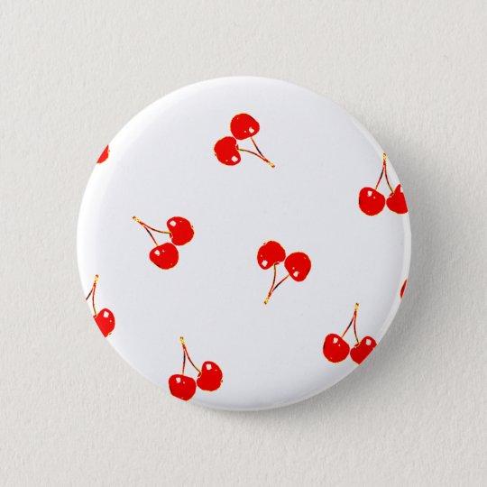 Kirschmuster-Pop-Version Runder Button 5,7 Cm