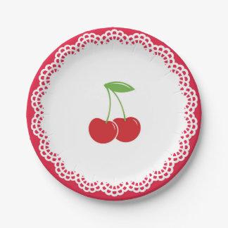 KirschParty-Nachtischteller Pappteller