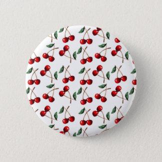 Kirschrot-Muster Runder Button 5,1 Cm