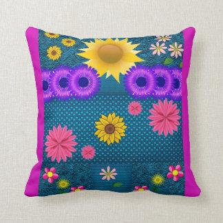 Kissen-Blumen-Musterdoppeltes versah Komfort mit Kissen