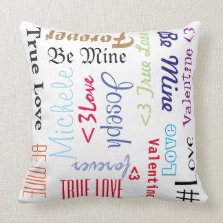 Kissen-für immer Liebe ist personalisierter Kissen