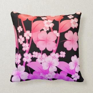 Kissen geformt mit Blume-Rosa und Lila