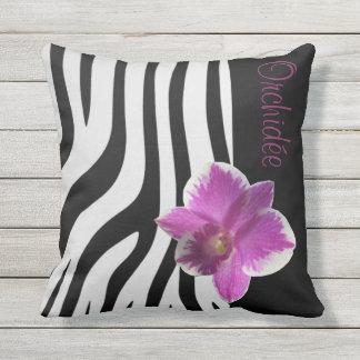 Kissen Zebra/Orchidee