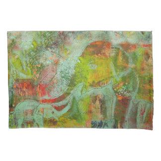 Kissenbezug mit buntem Elefantentwurf