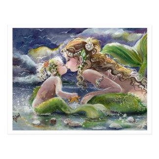Kissy Meerjungfrau u. Kindpostkarte Postkarte