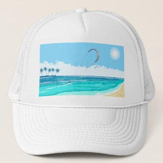 Kitesurf blaue Kappe
