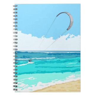 Kitesurf Notizbuch Spiral Notizblock