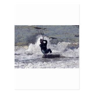 Kitesurfer Postkarte