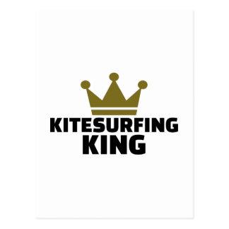 Kitesurfing König Postkarte
