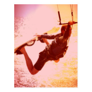 Kitesurfing Zupacken-Postkarte Postkarte
