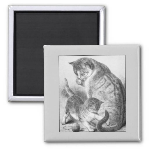 Kitty espiègle magnets pour réfrigérateur