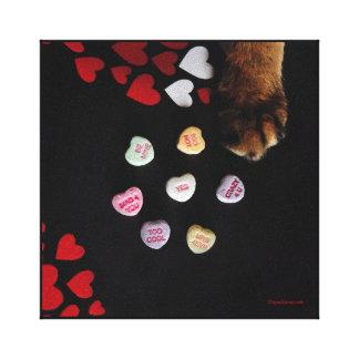 """Kitty-Süßigkeits-Herzen 8"""" x8"""" wickelten Leinwand"""
