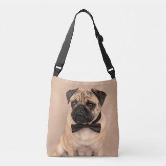 Kitz-Mops-Hund mit Bogen-Krawatte Tragetaschen Mit Langen Trägern