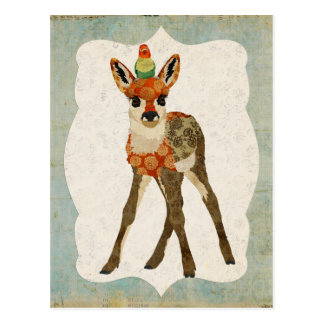 Kitz u. kleine Vogel-Postkarte Postkarte