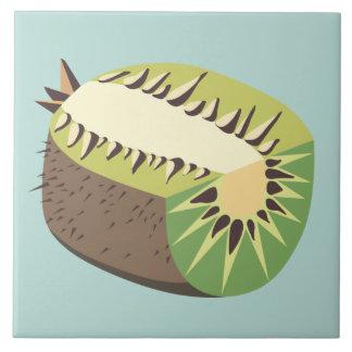 Kiwi fruit illustration große quadratische fliese