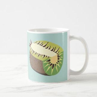 Kiwi fruit illustration tasse