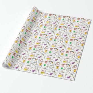 Kiwi-Geburtstags-Packpapier (klein) Geschenkpapier