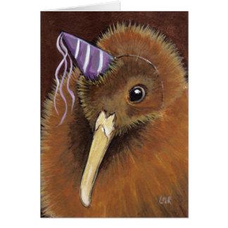 Kiwi in einem Party-Hut - Vogel-Kunst Karte