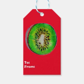 Kiwi-Kunst auf Set Geschenk-Umbauten Geschenkanhänger