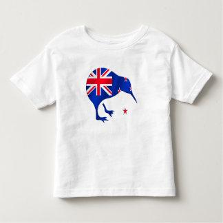 Kiwi Neuseeland-Flaggenfußball-Fußballgeschenke Kleinkinder T-shirt