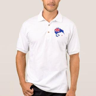 Kiwi Neuseeland-Flaggenfußball-Fußballgeschenke Poloshirt