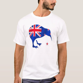 Kiwi Neuseeland-Flaggenfußball-Fußballgeschenke T-Shirt