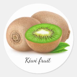 Kiwi Runder Aufkleber