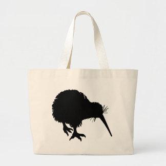 Kiwi-Silhouette Jumbo Stoffbeutel