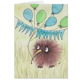 Kiwi-Vogel-alles Gute zum Geburtstag Karte