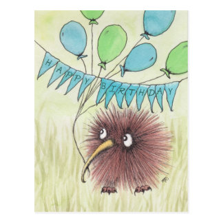 Kiwi-Vogel-alles Gute zum Geburtstag Postkarten