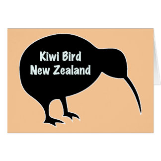 Kiwi-Vogel - Neuseeland Karte