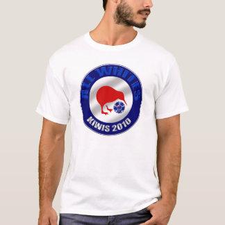 Kiwis 2010 alle Weiß-Neuseeland-Fußballgeschenke T-Shirt