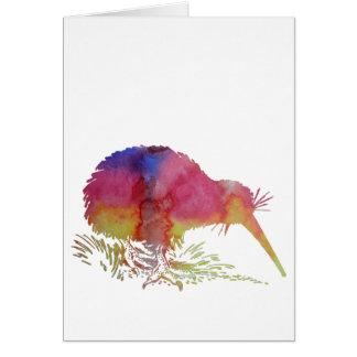 Kiwivogel Grußkarte
