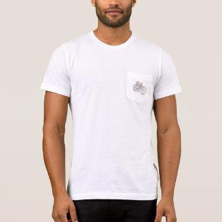 Klammern-unten (Motorrad-Denkmal) Taschen-T - T-Shirt