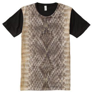 Klapperschlangen-Schlangen-Haut T-Shirt Mit Bedruckbarer Vorderseite