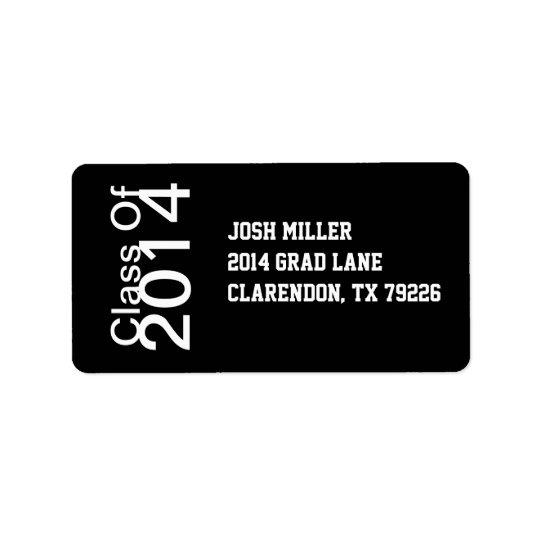 Klasse der Adressen-Etiketten des Abschluss-20XX Adressaufkleber